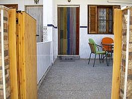 Entrada al porche-jardín. - Bungalow en venta en San Pedro del Pinatar - 299214485