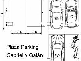 Parkplatz in verkauf in calle Gabriel y Galan, El Clot in Barcelona - 333877128
