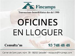 Oficina en alquiler en Centre en Sabadell - 332973100