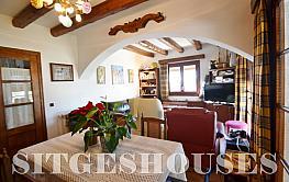 Salón - Masía en alquiler en calle Puig D'en Boronet, Quint mar en Sitges - 376103560