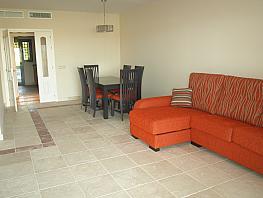 Salón - Apartamento en alquiler en urbanización Benatalaya, Estepona - 397188980