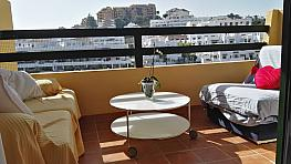 Terraza - Piso en alquiler en calle Alcaucin, Estepona - 315897784