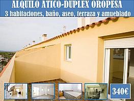Terraza - Ático-dúplex en alquiler en calle Virgen de la Paciencia, La Playa en Oropesa del Mar/Orpesa - 358046099