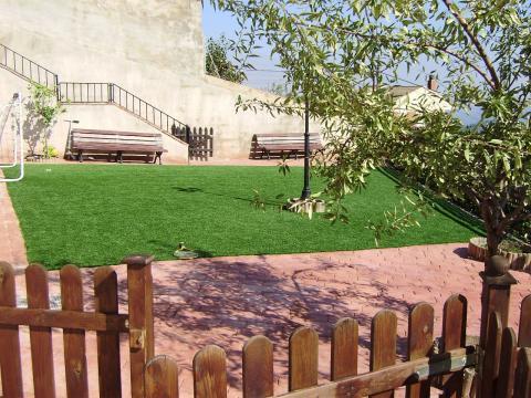 Jardín - Chalet en alquiler opción compra en calle Creu D´Aragall, El Bonrepòs en Corbera de Llobregat - 42271579