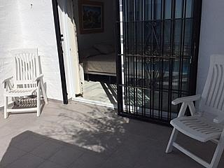 Terraza - Casa adosada en alquiler de temporada en urbanización Lunamar, Mijas Costa - 254241726