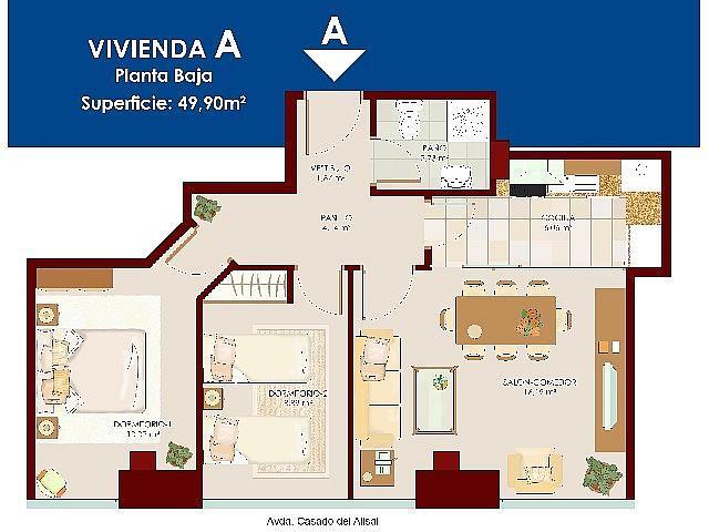 Foto 2 - Apartamento en venta en calle Av Casado del Alisal, La Puebla-Centro en Palencia - 357077345