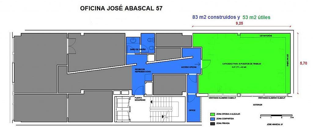 Oficina en alquiler en calle José Abascal, Chamberí en Madrid - 361474342