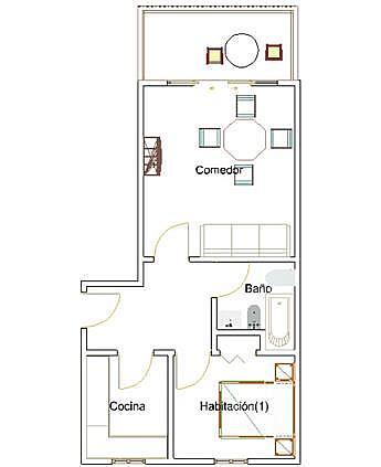 1433 planol - Apartamento en venta en Mont-Roig del Camp - 136461189