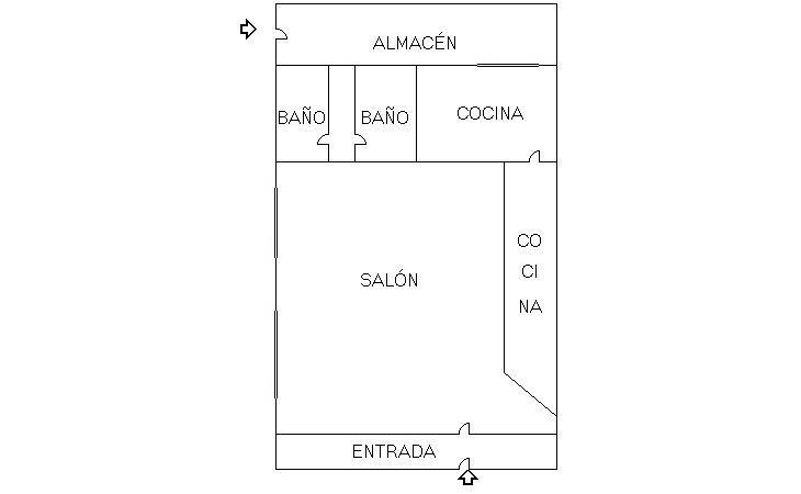 Plano - Local comercial en alquiler en El Naranjo-La Serna en Fuenlabrada - 238792680