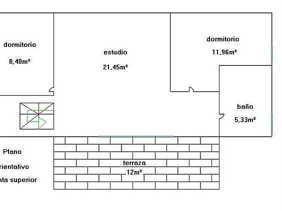 Plano planta superior - Casa en alquiler en Riells i Viabrea - 258367054