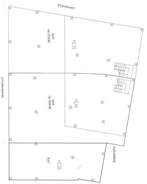 Plano - Local en alquiler en plaza Pepe de la Pequeña Esquina, Vistabella en Alcantarilla - 155139540