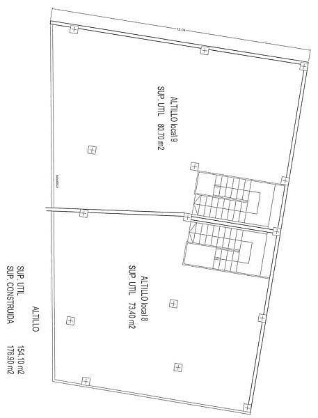 Plano - Local en alquiler en plaza Pepe de la Pequeña Esquina, Vistabella en Alcantarilla - 155139547