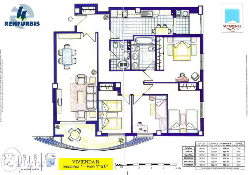Plano - Piso en alquiler en calle Ausias March, Xàtiva - 120412114