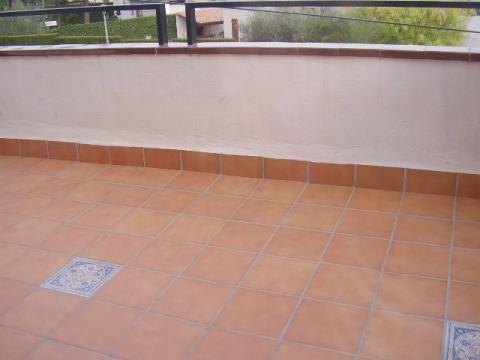 Terraza - Apartamento en venta en calle Blasco Ibañez, El francás en Coma-Ruga - 44955065