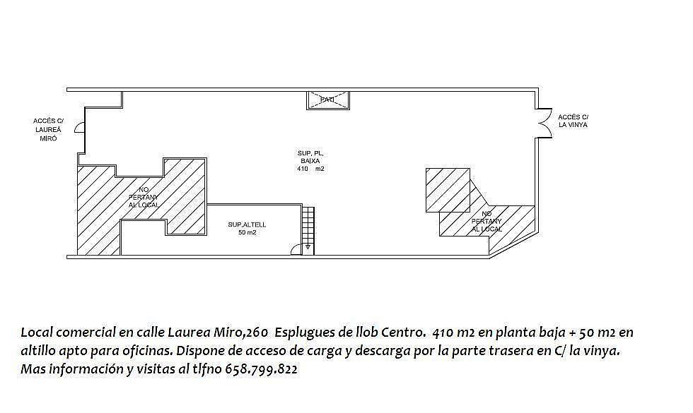 Local comercial en alquiler en calle Laurea Miro, Centre en Esplugues de Llobregat - 143137591