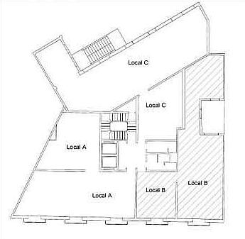 Plano - Oficina en alquiler en El Gótic en Barcelona - 170661561