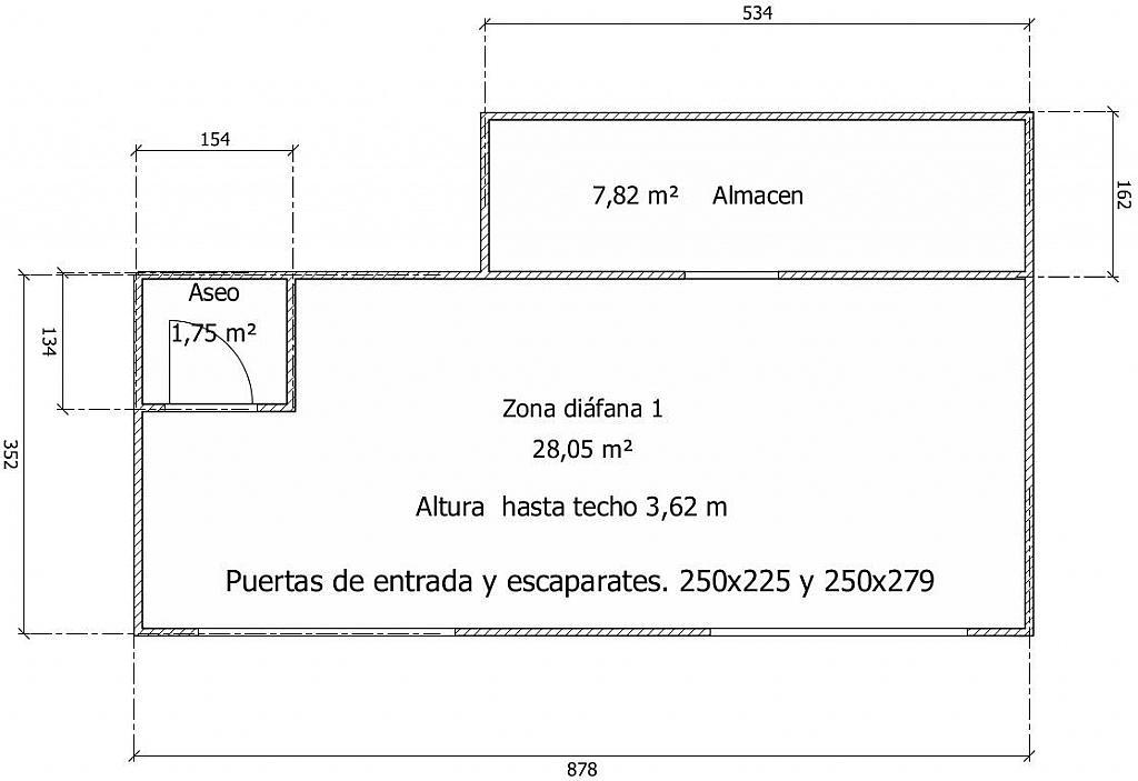 Plano - Local comercial en alquiler en calle Melcior de Palau, Sants en Barcelona - 282381644