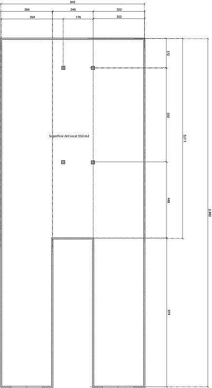 Plano - Local comercial en alquiler en calle Valladolid, Sants en Barcelona - 220022243