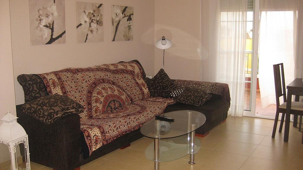 Salón - Ático en alquiler de temporada en calle Tomillar, Torre del mar - 299249725