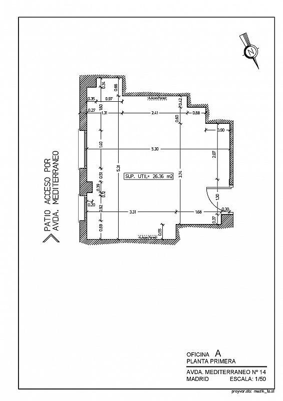 Oficina en alquiler en calle Mediterráneo, Pacífico en Madrid - 302248683