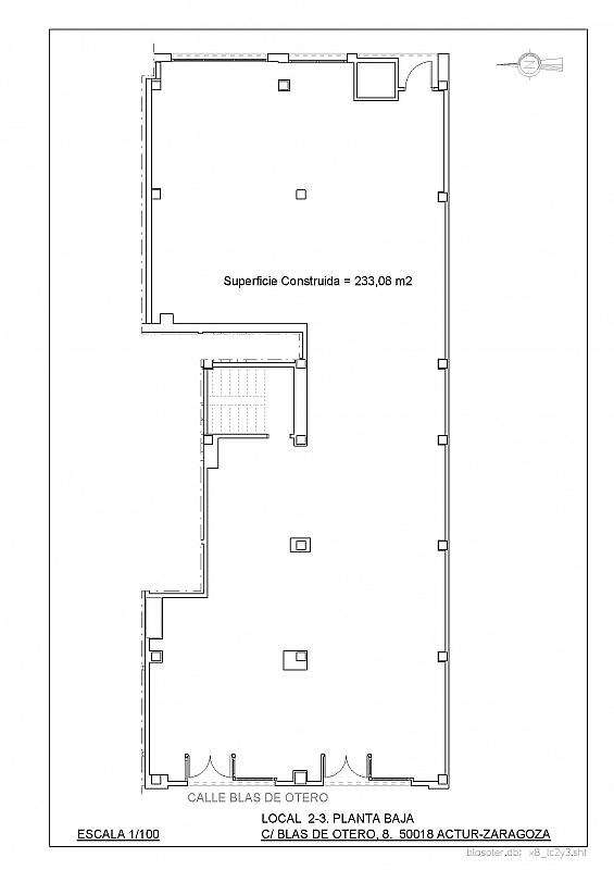 Plano - Local comercial en alquiler en calle Blas de Otero, Grancasa en Zaragoza - 329592489
