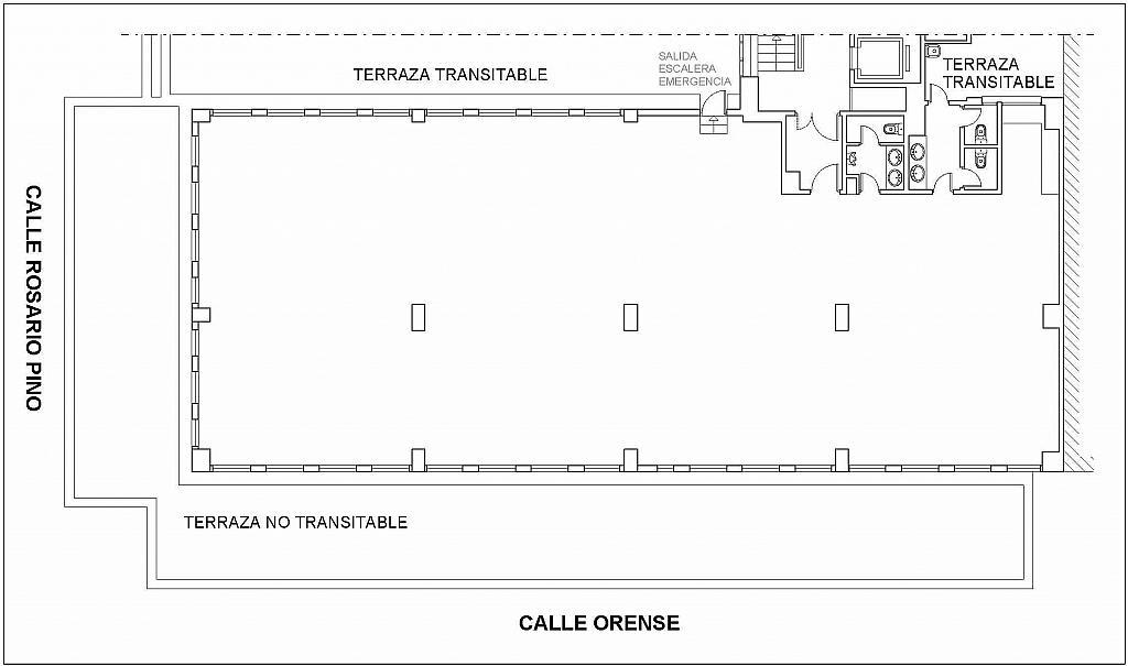 Plano - Oficina en alquiler en calle Orense, Castillejos en Madrid - 190555402