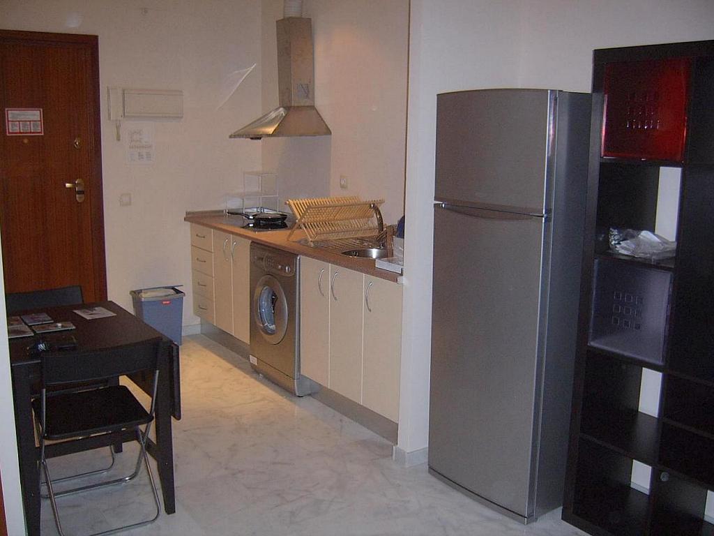 Cocina - Estudio en alquiler en calle Alcalde Luis de Uruñuela, Entrepuentes en Sevilla - 155695628