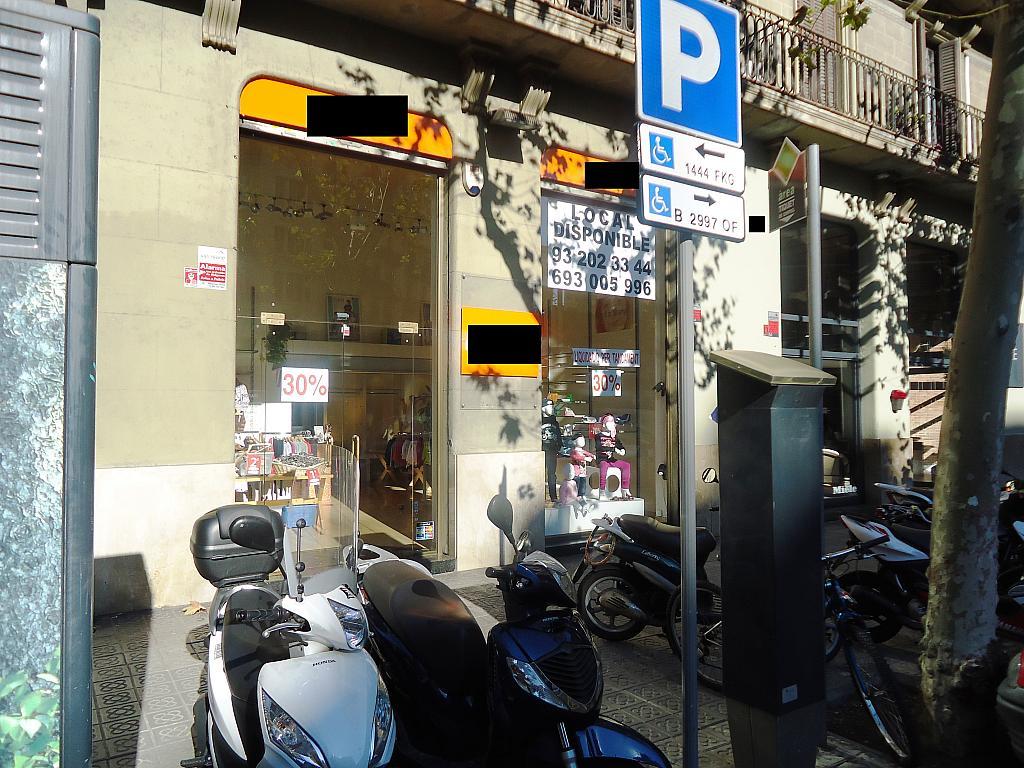 Fachada - Local comercial en alquiler en calle Muntaner, Eixample esquerra en Barcelona - 123695533