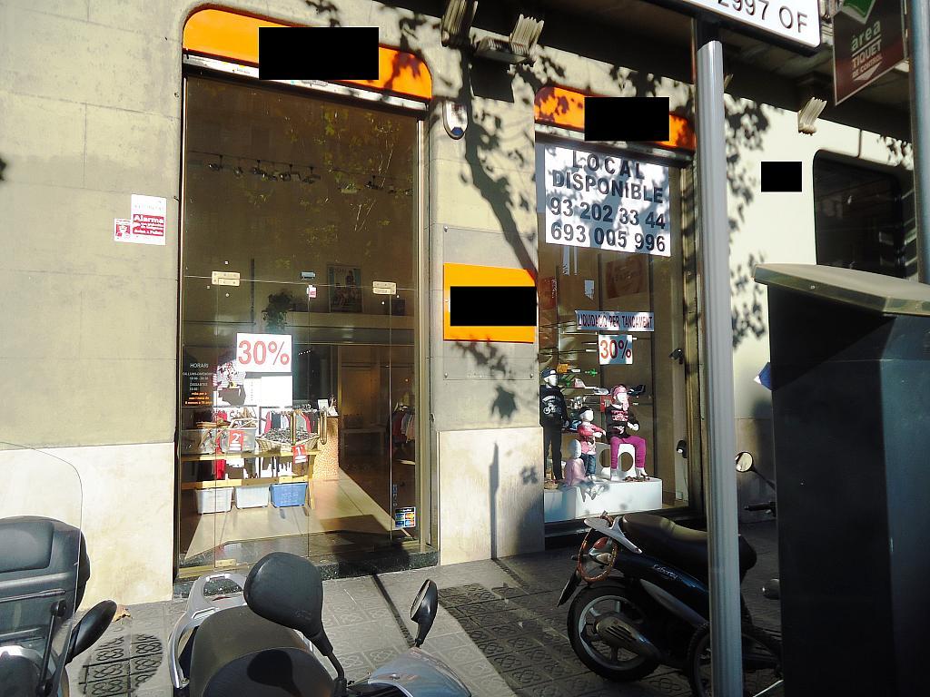 Fachada - Local comercial en alquiler en calle Muntaner, Eixample esquerra en Barcelona - 123695538