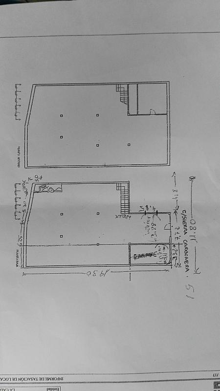 Plano - Local en alquiler en calle Sierra Carbonera, Numancia en Madrid - 333123160