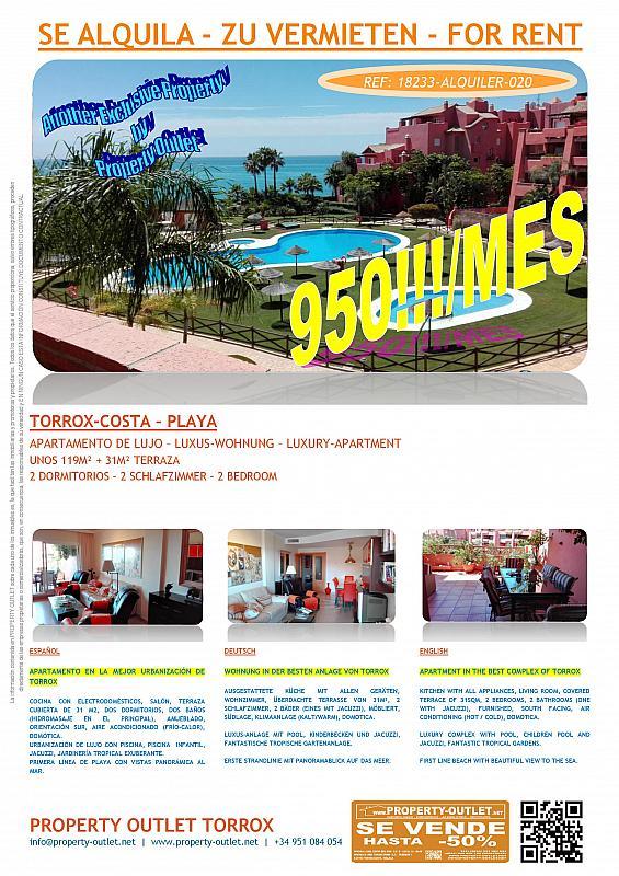 Piso en alquiler en urbanización Punta del Faro, Torrox-Costa en Torrox - 291137331