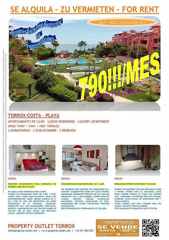 Piso en alquiler en urbanización Punta del Faro, Torrox-Costa en Torrox - 291137678