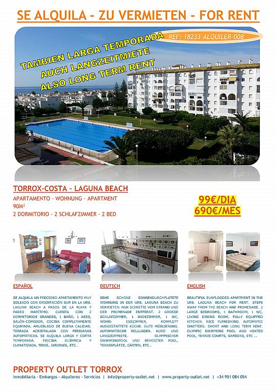 Apartamento en alquiler en urbanización Laguna Beach, Torrox-Costa en Torrox - 199881017