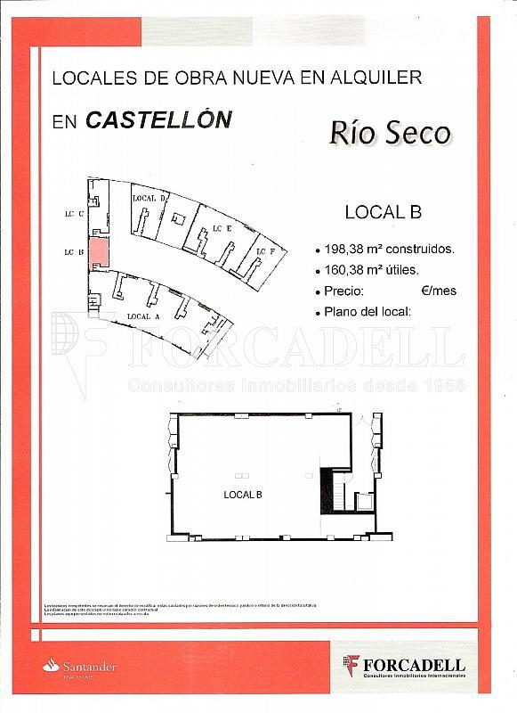 LOCAL B - Local comercial en alquiler en calle Localhonori Garcia Garcia, Oeste en Castellón de la Plana/Castelló de la Plana - 260869866
