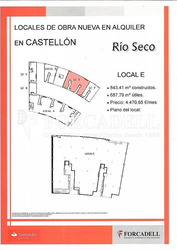 LOCAL E - Local comercial en alquiler en calle Localhonori Garcia Garcia, Oeste en Castellón de la Plana/Castelló de la Plana - 260869875