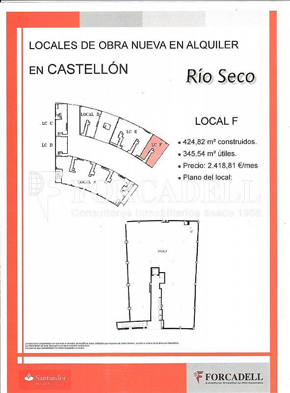 LOCAL F - Local comercial en alquiler en calle Localhonori Garcia Garcia, Oeste en Castellón de la Plana/Castelló de la Plana - 260869878