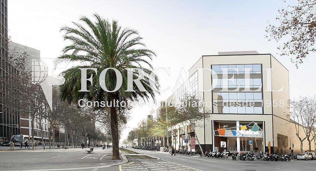 FAÇANA - Oficina en alquiler en calle Diagonal, El Parc i la Llacuna en Barcelona - 278702684