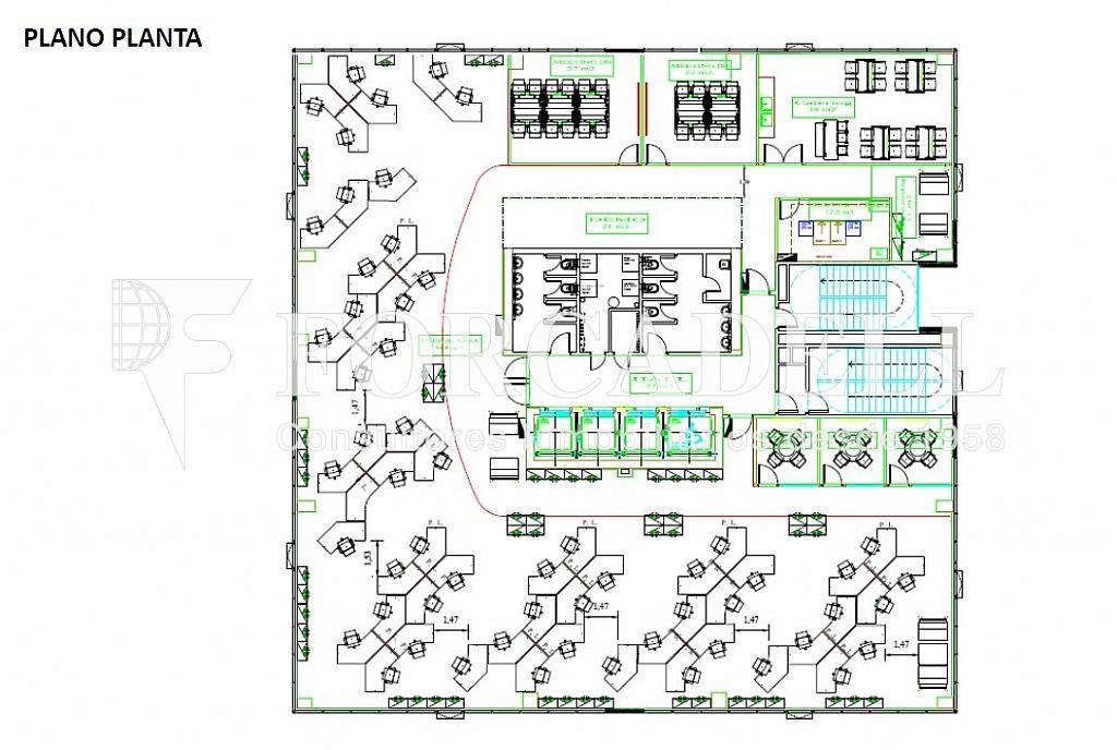 Plano planta - Oficina en alquiler en calle Corts Catalanes, La Marina de Port en Barcelona - 263450556