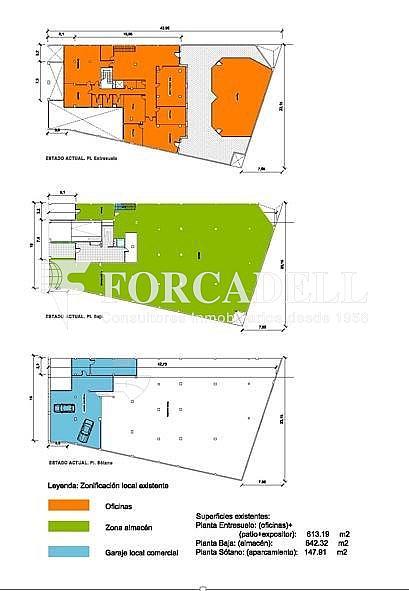 Plano - Local comercial en alquiler en Sants en Barcelona - 281186423