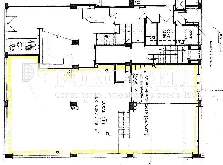 Planol - Local comercial en alquiler en Les corts en Barcelona - 306138698