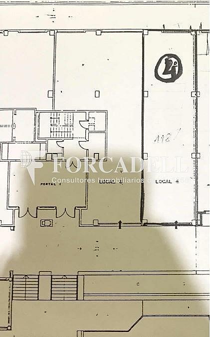 Plano - Local comercial en alquiler en Les corts en Barcelona - 310643733
