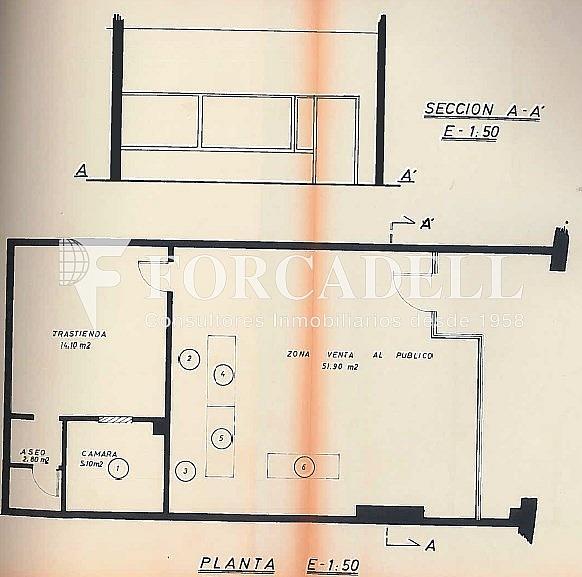 Plano - Local comercial en alquiler en Sant Boi de Llobregat - 326919526