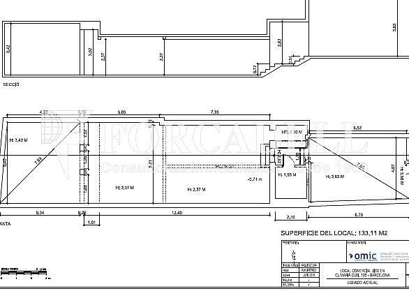 Plano t - Local comercial en alquiler en Sant Gervasi – Galvany en Barcelona - 326919856