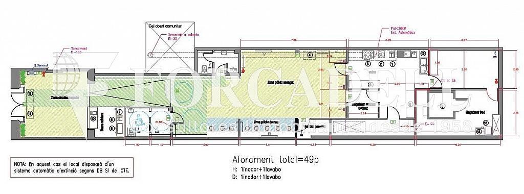 PLANOL PLANTA BAIXA - Local comercial en alquiler en Eixample esquerra en Barcelona - 318579550