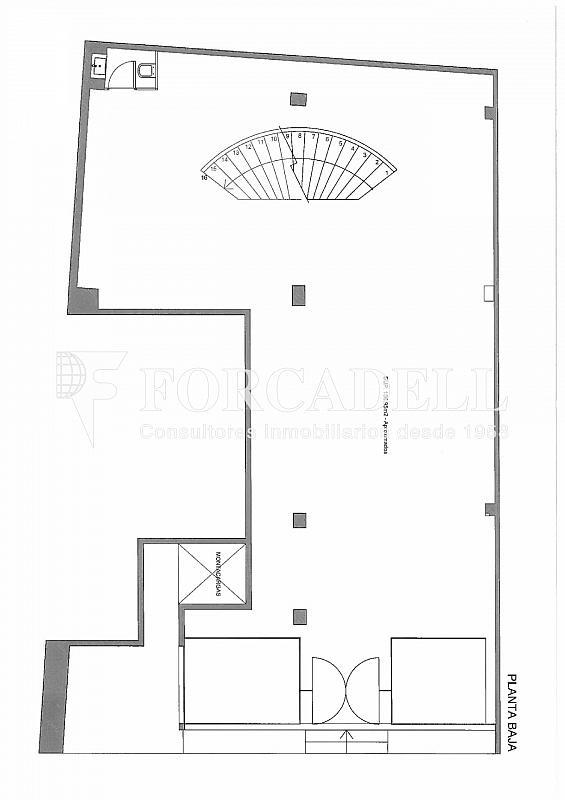 Plano-rubinstein-4-001 - Oficina en alquiler en Sant Gervasi – La Bonanova en Barcelona - 261863179