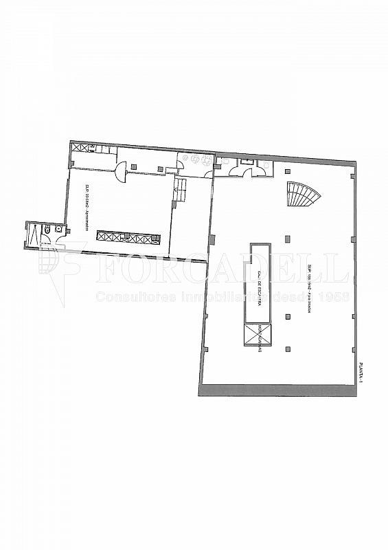 Plano-rubinstein-4-003 - Oficina en alquiler en Sant Gervasi – La Bonanova en Barcelona - 261863185