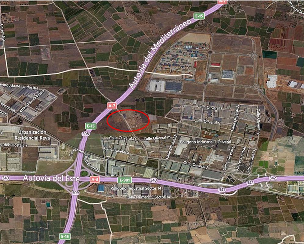 Parcela industrial en alquiler en polígono El Oliveral Ribarroja, Riba-roja de Túria - 181433399