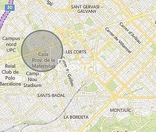 SITUACIÓN - Oficina en alquiler en Les corts en Barcelona - 325027579