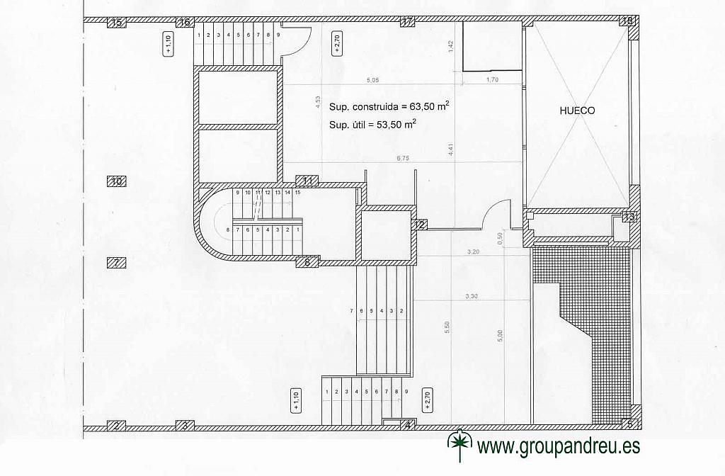 Plano - Local en alquiler en calle Marina, La Sagrada Família en Barcelona - 295691715