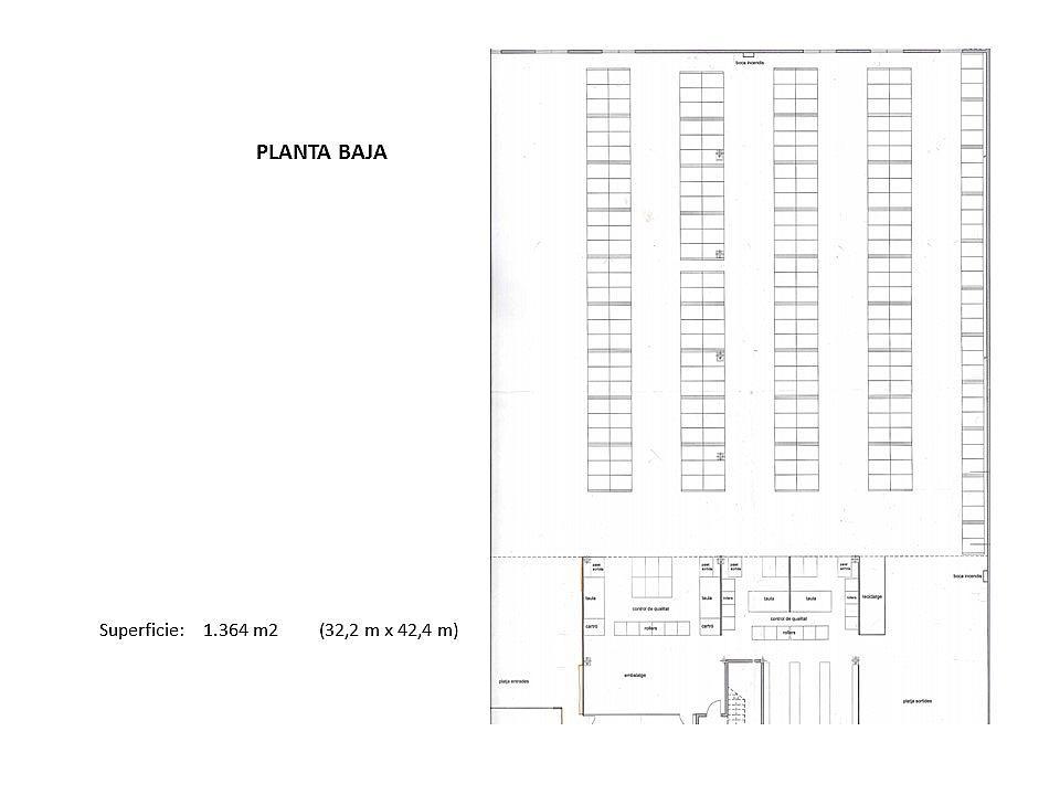 Plano - Nave industrial en alquiler en calle Crom, Centre en Hospitalet de Llobregat, L´ - 329587653